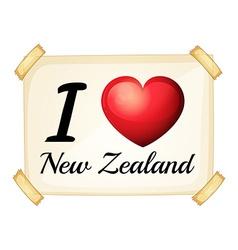 I love New Zealand vector image