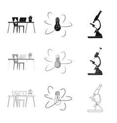 Isolated object of education and learning icon vector