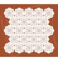 Lace mat vector image