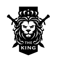 Lion king symbol logo emblem vector