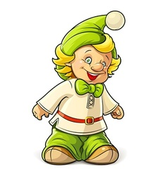 little gnome boy vector image