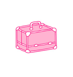 Makeup case doodle icon vector