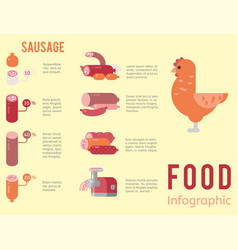 Meat production infographic vector