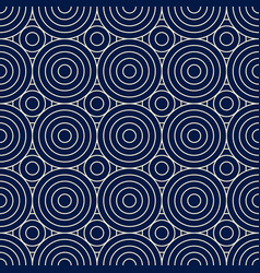 Mediterranean circles seamless pattern vector