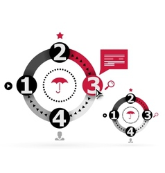 Modern round infographic design template vector image