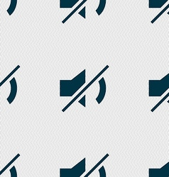 Mute speaker sign icon Sound symbol Seamless vector image