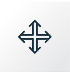 navigation icon line symbol premium quality vector image