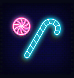 Neon sweet - candy cane vector