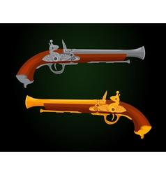Pistol 18th century vector