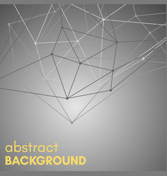 polygonal background with molecular connection vector image