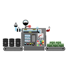 Production money Technological process of vector image