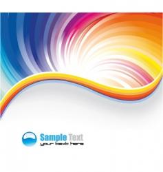 Rainbow background vector