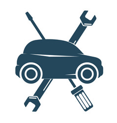 repair auto with tool symbol vector image