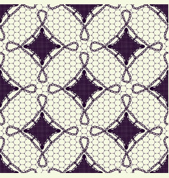seamless pattern of lace canvas dark tracery on a vector image