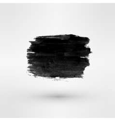 set black ink paint stains vector image