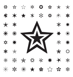 set of black stars vector image