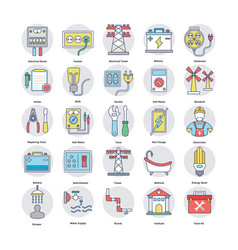 Set of home services flat icons vector