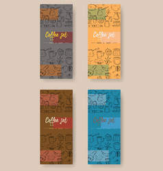 Set of vertical banners with graphic design vector