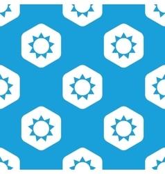 Sun hexagon pattern vector image
