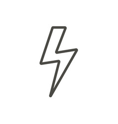thunder icon line lightning bolt symbol vector image