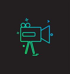 videocamera icon design vector image