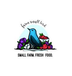 vintage logo for farm company vector image
