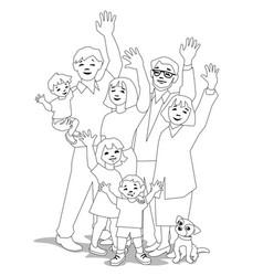 waving generations vector image