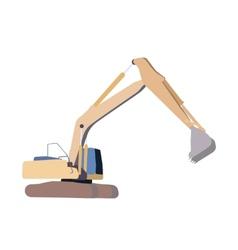 Working excavator isolated vector
