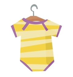 Yellow bodysuit for baby vector image