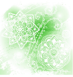 abstract green blob isolated on white background vector image
