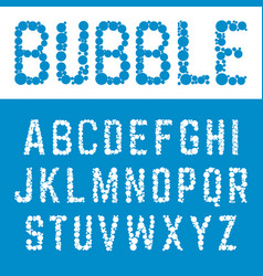 alphabet bubble font template letters bubbles vector image