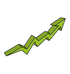 Arrow increase isolated icon vector