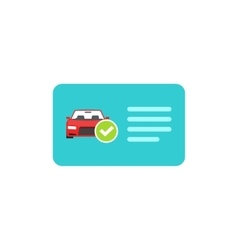 Driver license icon card with car and vector image vector image
