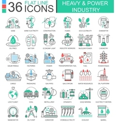 Heavy and power industry flat line outline vector image vector image