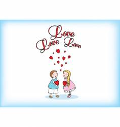 love love vector image vector image