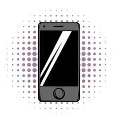 Modern smartphone comics icon vector image vector image