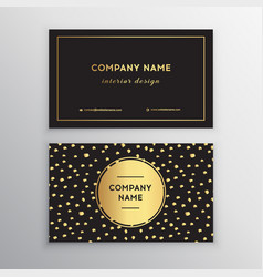 set of business card templates with gold vector image