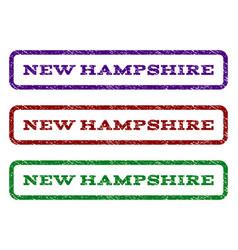 new hampshire watermark stamp vector image