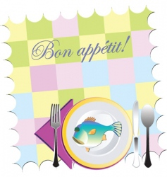 placemat setting vector image vector image