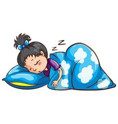 A young girl sleeping vector image