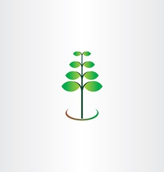 eco spring plant leaf green vector image vector image