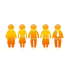 Five Peoples vector image