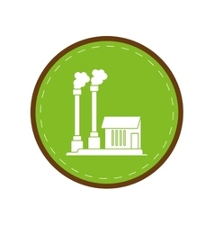industrial factory buiding pollution symbol green vector image