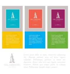 Industry cards derrick symbol vector image vector image