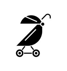 Stroller buggy icon black vector