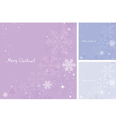 abstract background of snowflakes vector image