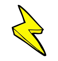 comic cartoon lightning bolt symbol vector image
