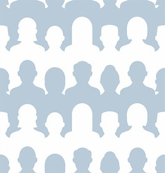 Group of people seamless pattern vector image