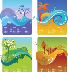 seasons calendar vector image