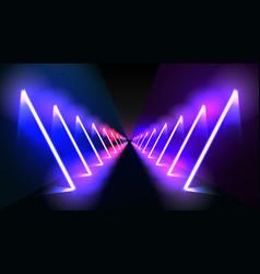 abstract night club laser show corridor interior vector image
